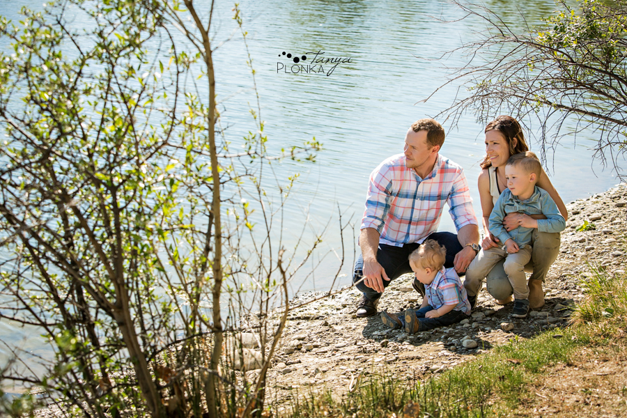 Lethbridge family photos at the lake