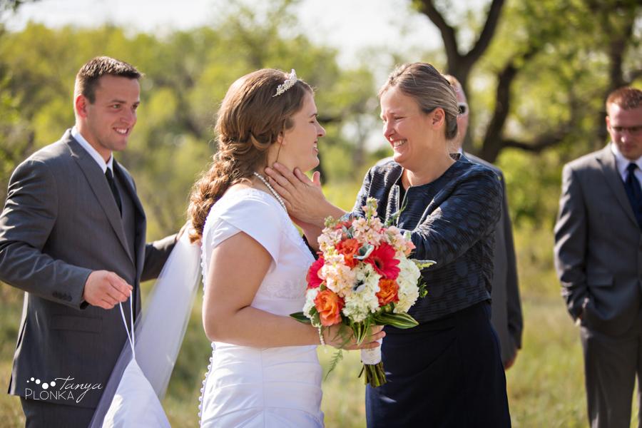 Henry and Kari, Fort Macleod spring wedding