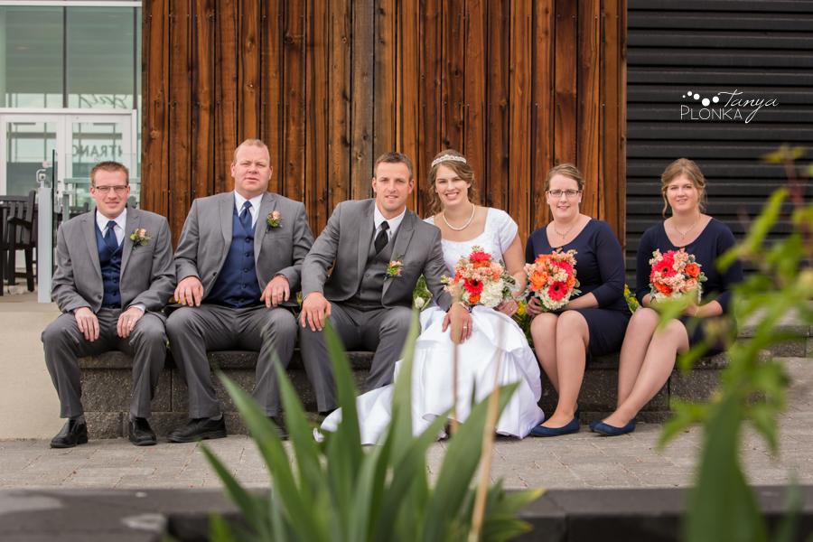 Henry and Kari, Galt Museum outdoor wedding photos