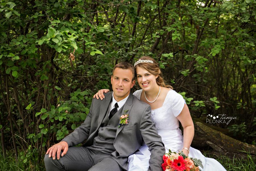 Henry and Kari, Lethbridge Indian Battle Park spring wedding