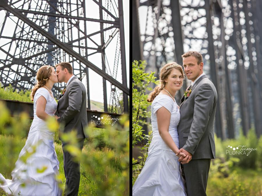 Henry and Kari, Lethbridge high level bridge wedding photos