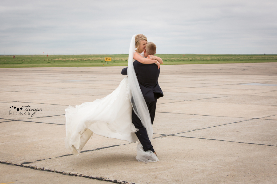 Ben and Sheila, Lethbridge airport wedding photography