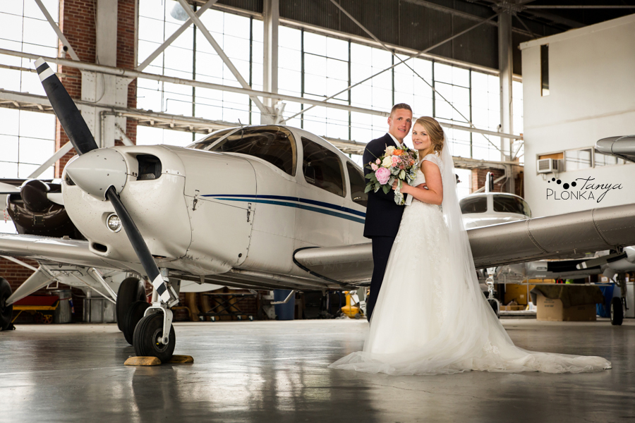 Ben and Sheila, Lethbridge airport wedding photos