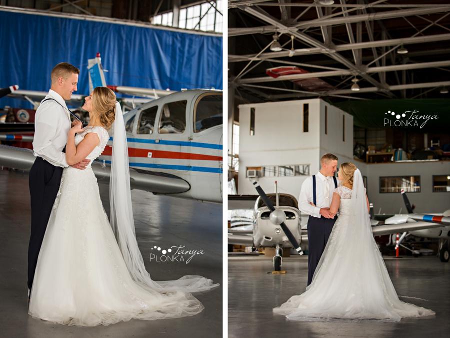 Ben and Sheila, Lethbridge airport wedding photography