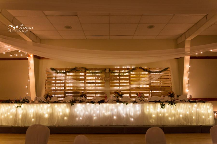 Ben and Sheila, Coalhurst Community Hall wedding reception