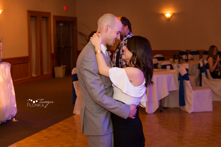 Andrea and Tylor, Italian Canadian Club Lethbridge spring wedding