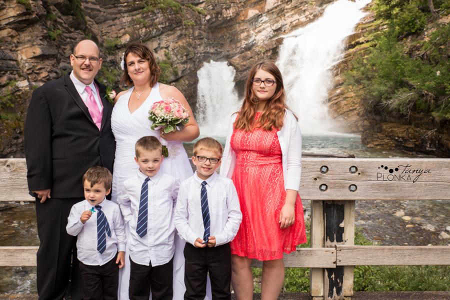 Dara and Chris, Waterton Cameron Falls wedding photos