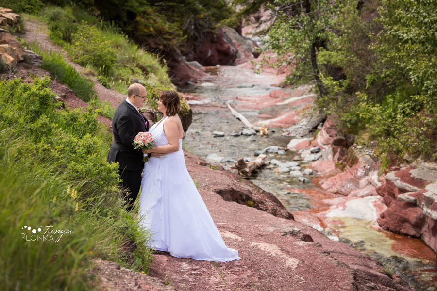 Dara and Chris, Waterton Red Rock Canyon wedding photos
