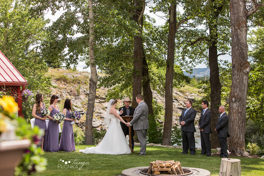 Jill and Shaun, Crowsnest Pass backyard outdoor wedding ceremony