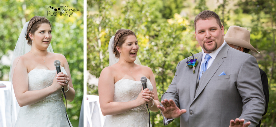 Jill and Shaun, Crowsnest Pass private estate outdoor wedding