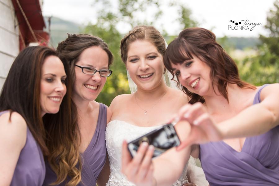 Jill and Shaun, Crowsnest Pass backyard outdoor wedding