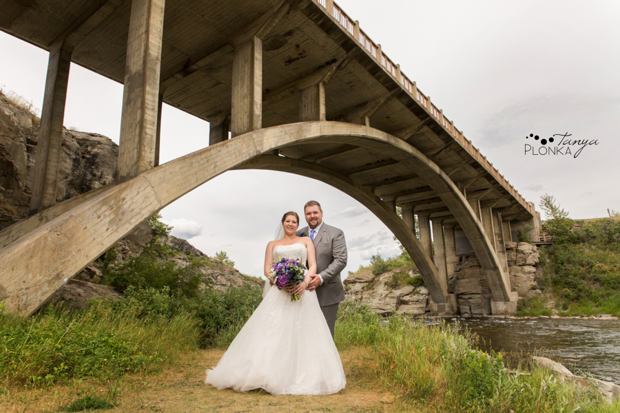 Jill and Shaun, Lundbreck Falls scenic outdoor wedding photography