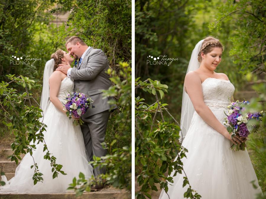 Jill and Shaun, Lundbreck Falls scenic outdoor wedding