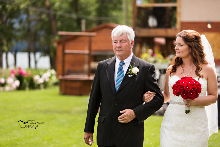 Shawn & Adrienne, Romantic Waterton Bayshore Inn outdoor wedding ceremony