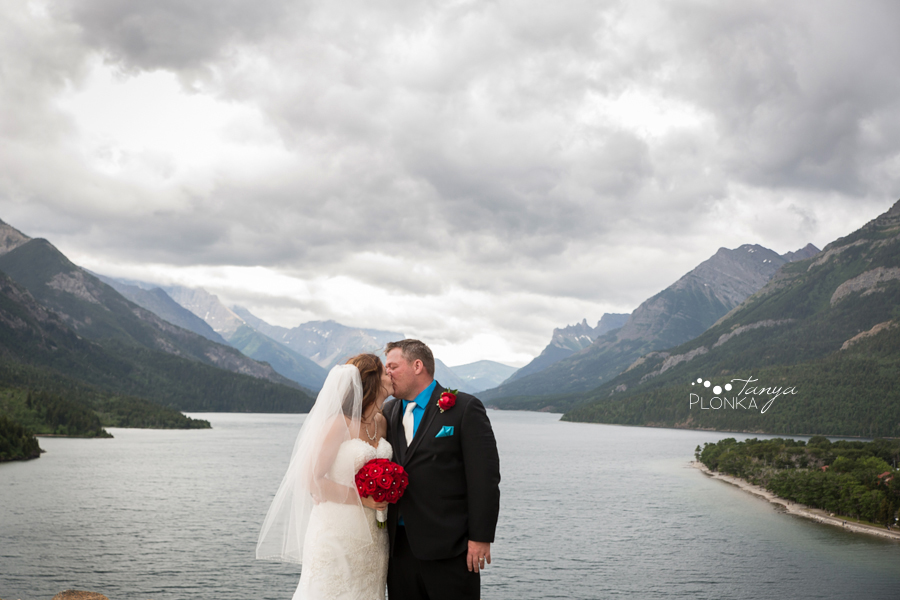 Shawn & Adrienne, Romantic Waterton Bayshore Inn outdoor Wedding