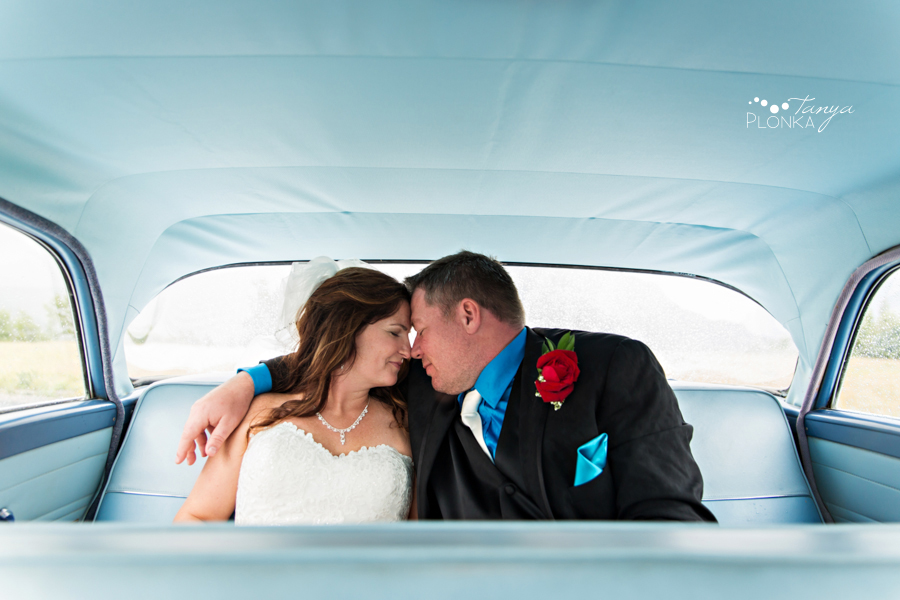 Shawn & Adrienne, Waterton vintage car wedding photography