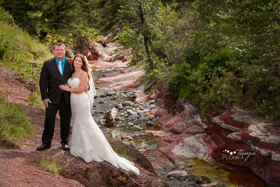 Shawn & Adrienne, Red Rock Canyon Waterton wedding photos