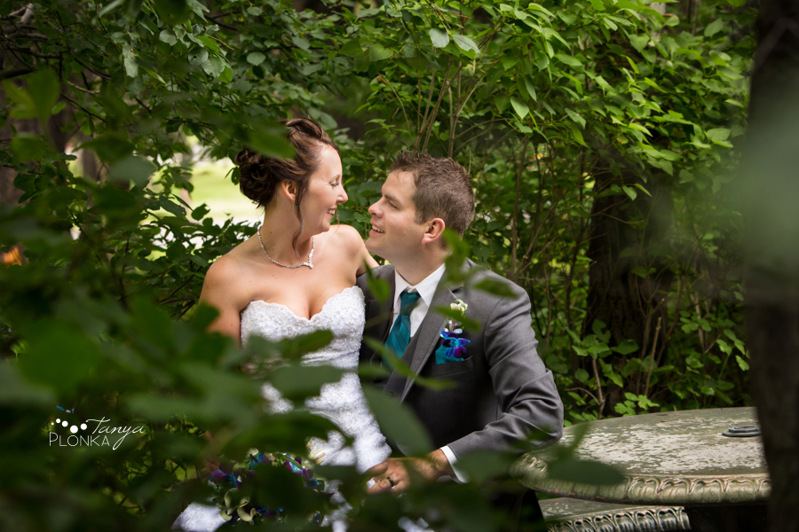 Travis & Stephanie, Crowsnest Pass SpringBreak garden centre wedding
