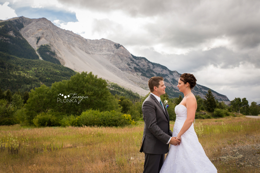 Travis & Stephanie, Crowsnest Pass Turtle Mountain wedding photos