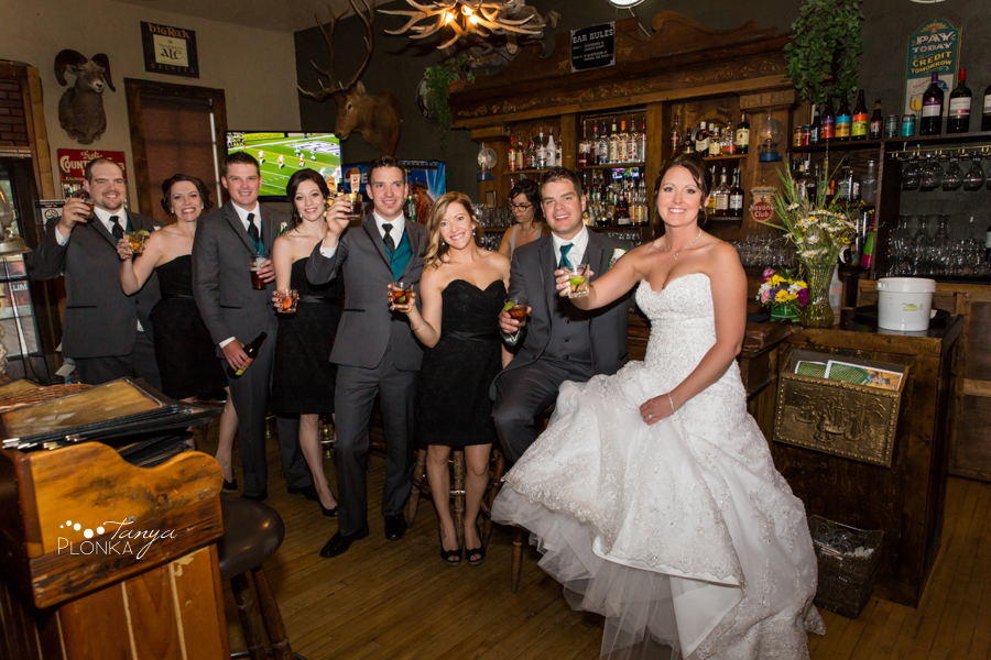 Travis & Stephanie, Crowsnest Pass Rum Runner wedding photos