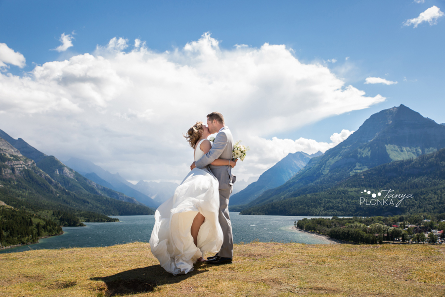 Monika and Peter, Prince of Wales lookout wedding photo