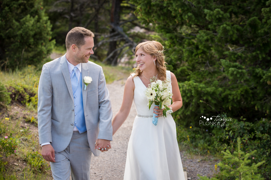 Monika and Peter, Waterton Red Rock canyon wedding portraits