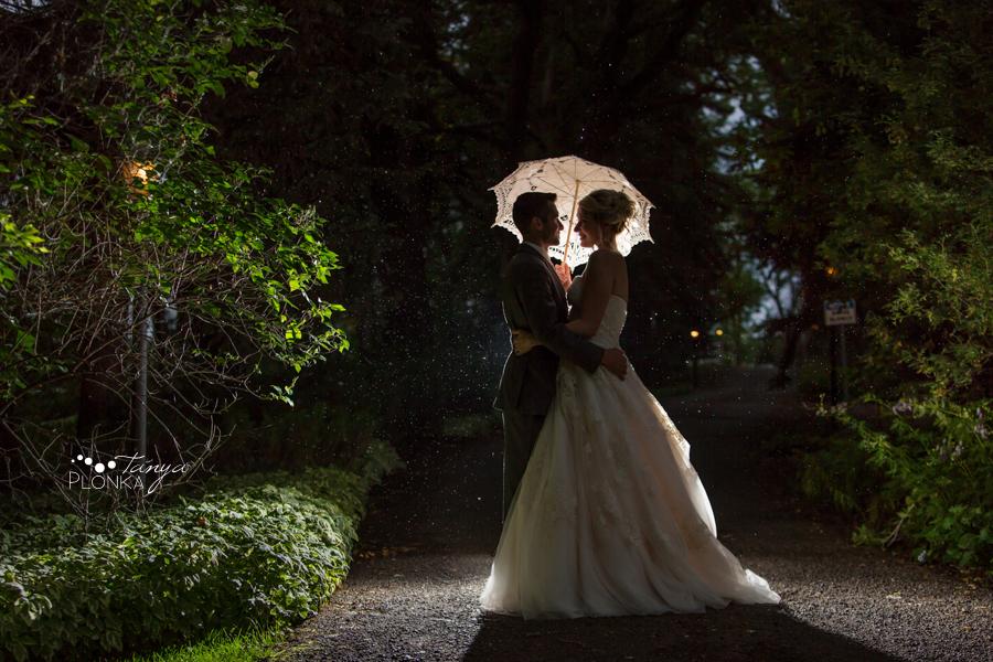 Joshua and Christina, Lethbridge night wedding photos