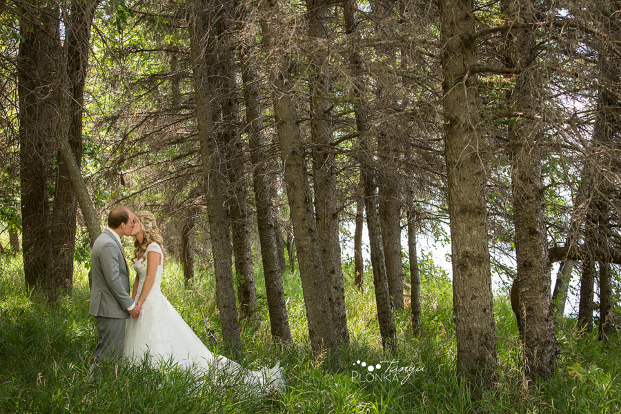 Janine and Travis, Park Lake summer wedding photos