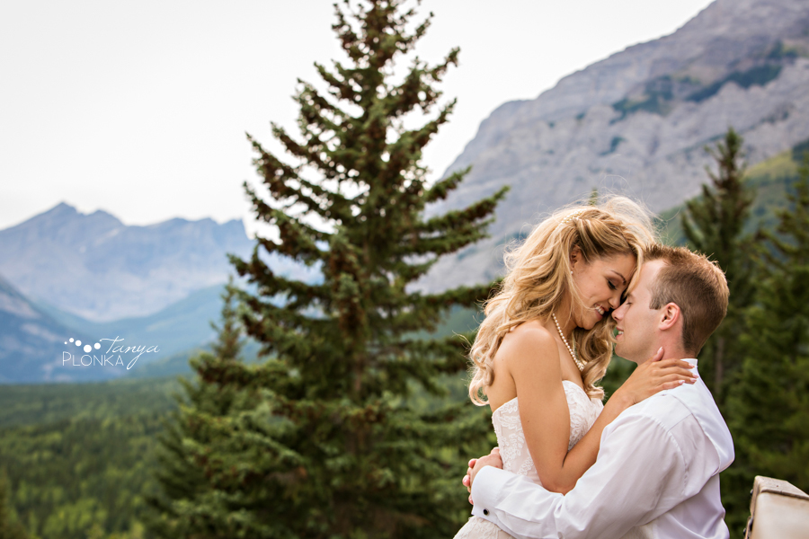Jena and Daniel, Alberta mountain resort wedding photos