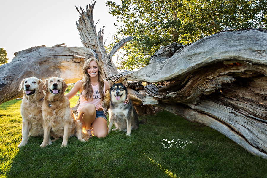 Barnwell portraits with her dogs