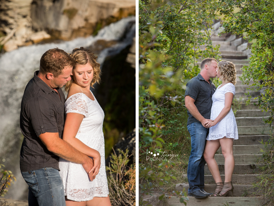 Lundbreck Falls engagement photos