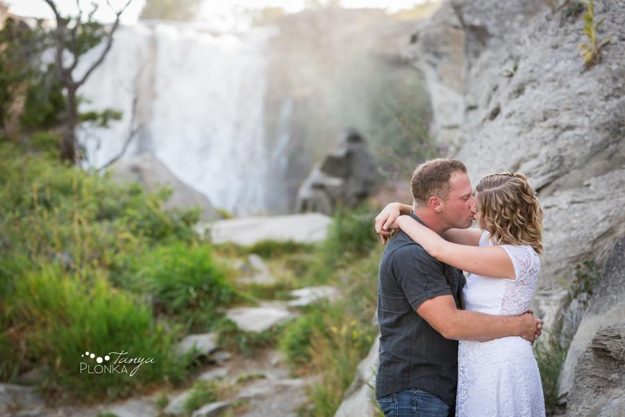 Lundbreck Falls summer engagement photos
