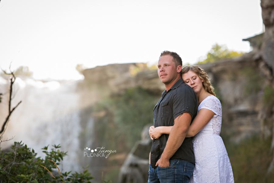Lundbreck Falls engagement photos