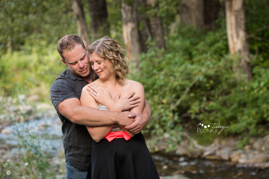 Hillcrest river engagement photos