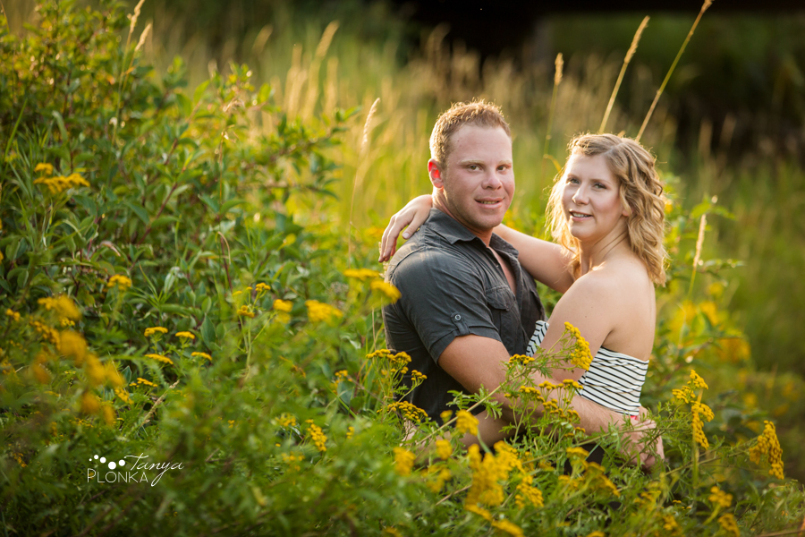 Lundbreck Falls summer engagement photos