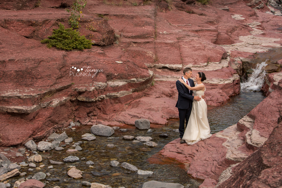 Ryan and Becky, Red Rock Canyon Waterton elopement