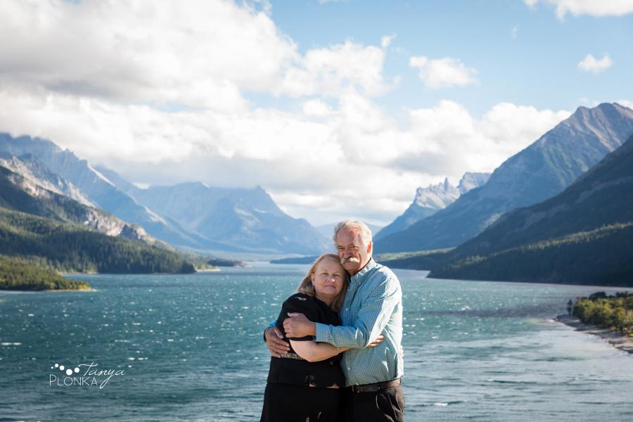 Waterton Lakes anniversary portrait session