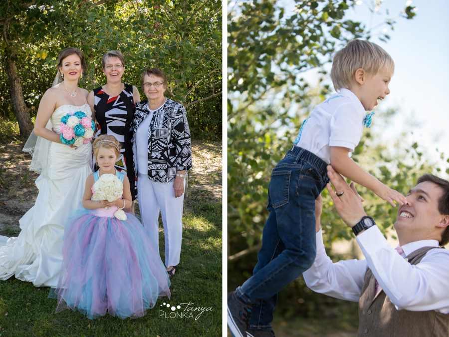 Cameron and Morgan, Fort Macleod backyard wedding photos