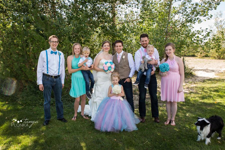Cameron and Morgan, Fort Macleod wedding photos