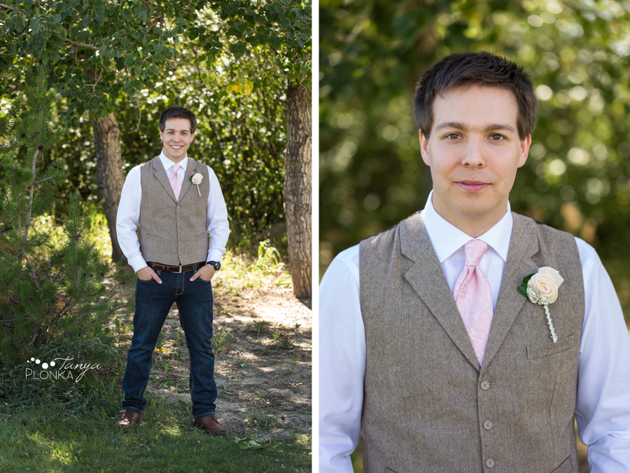 Cameron and Morgan, Fort Macleod backyard wedding photos