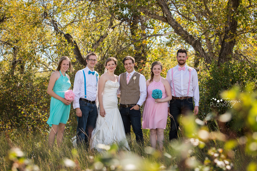 Cameron and Morgan, Fort Macleod wilderness park wedding photography