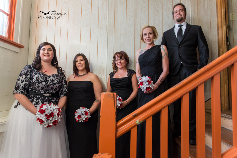 Desiree and Craig, Crowsnest Pass night time wedding