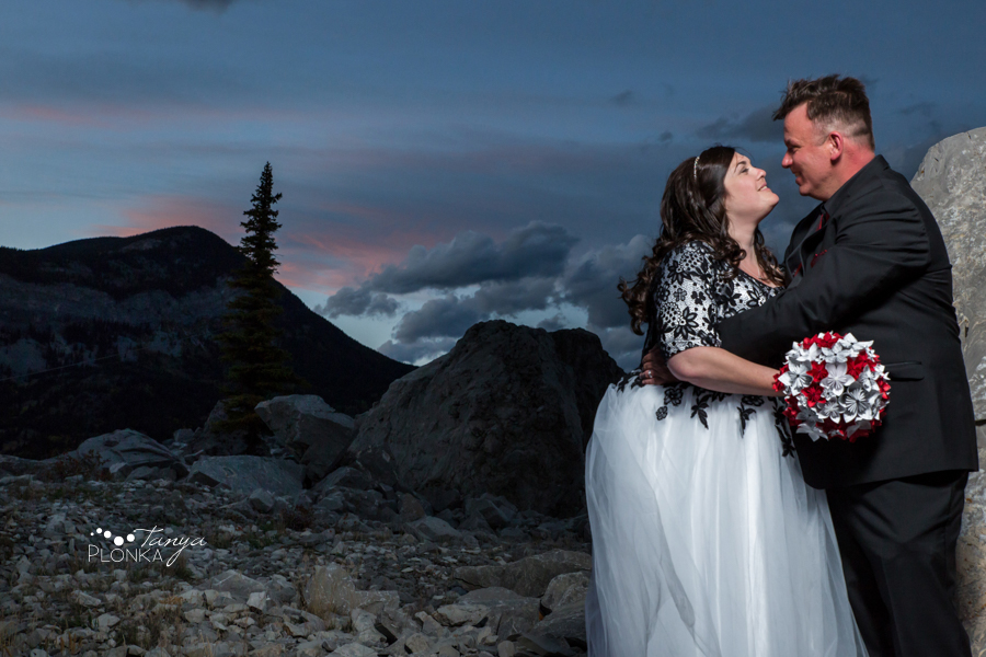Desiree and Craig, Crowsnest Pass Frank Road wedding photos