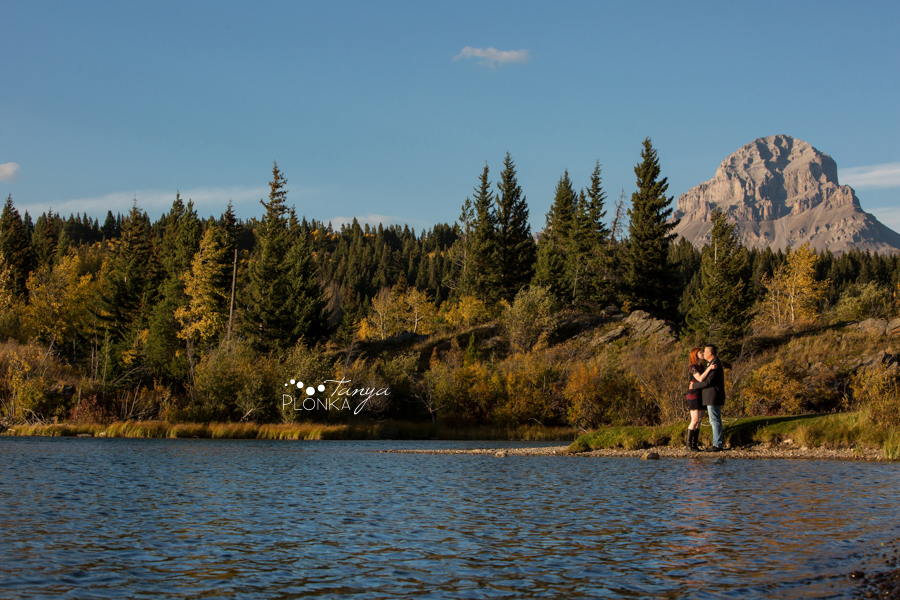 Crowsnest Mountain autumn engagement photos