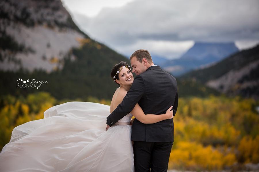 Levi and Heather, Frank Slide Autumn Wedding