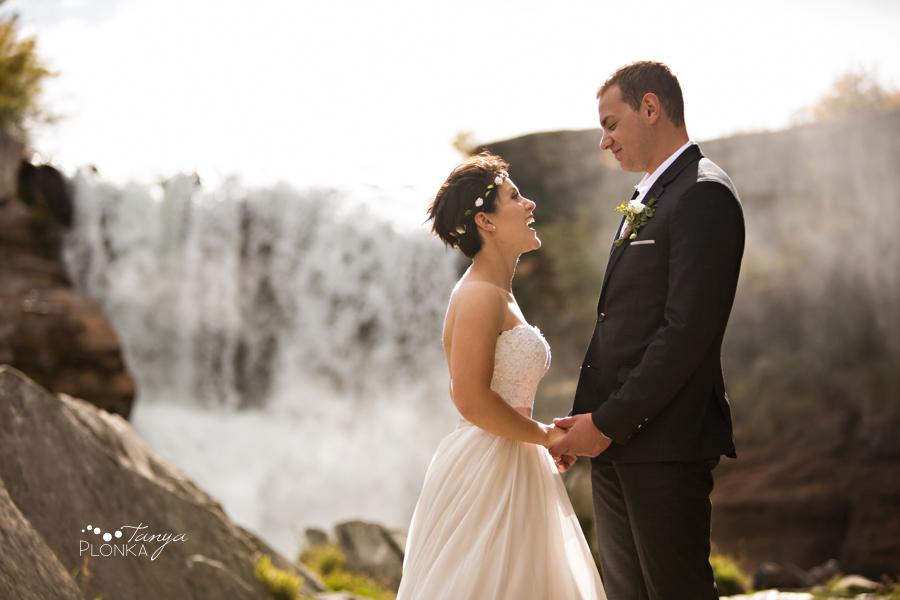 Levi and Heather, Lundbreck Falls Autumn Wedding