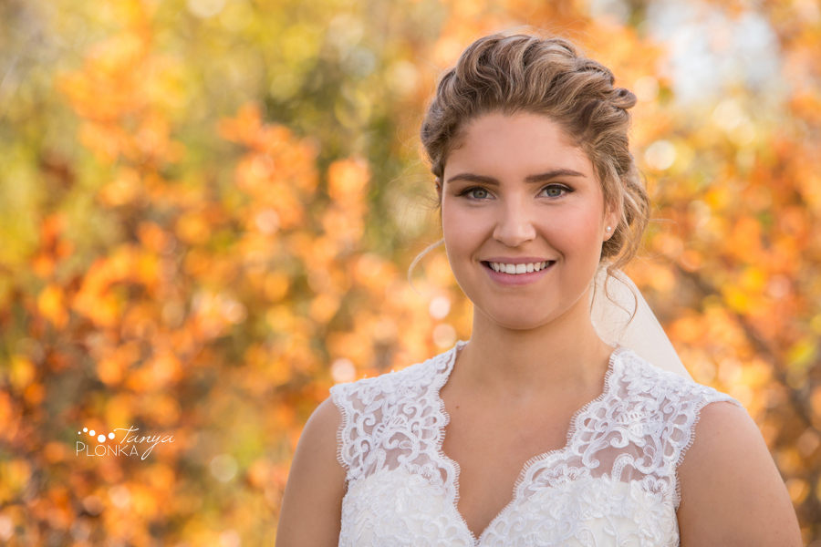 Maxinne and GJ, Fort Macleod autumn bridal portraits