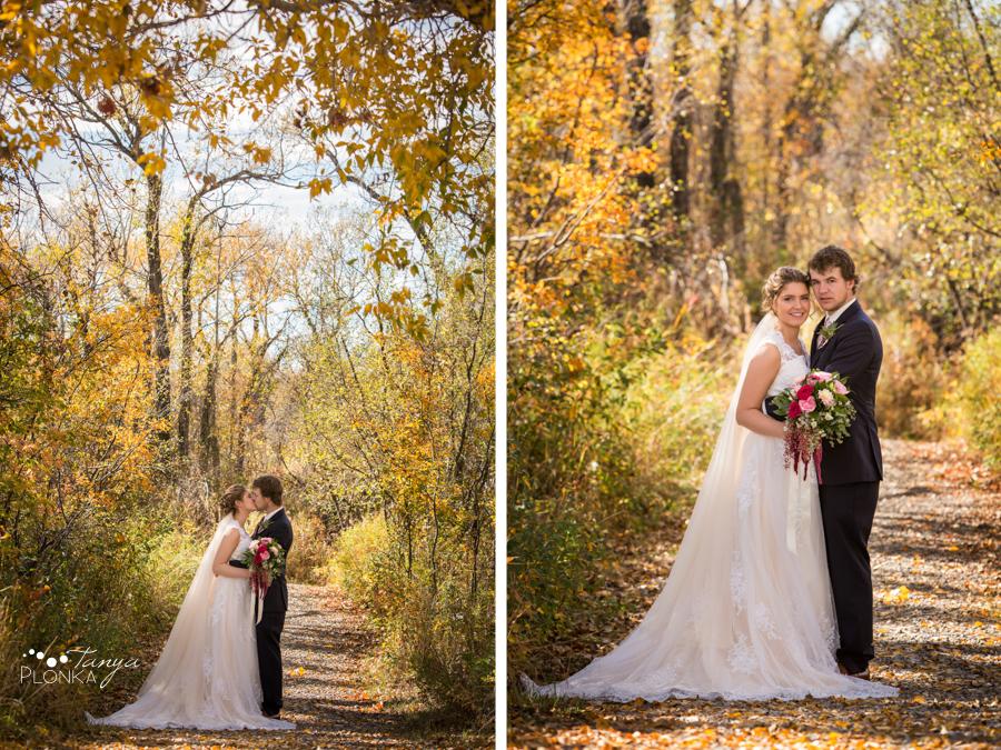 Maxinne and GJ, Fort Macleod wedding portraits