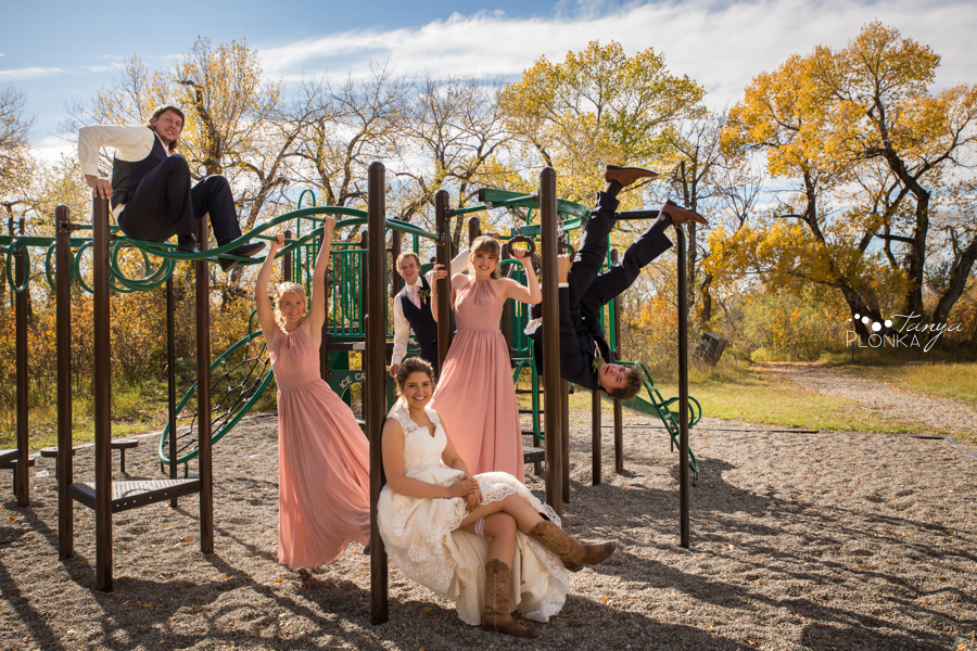 Maxinne and GJ, Fort Macleod bridal photos