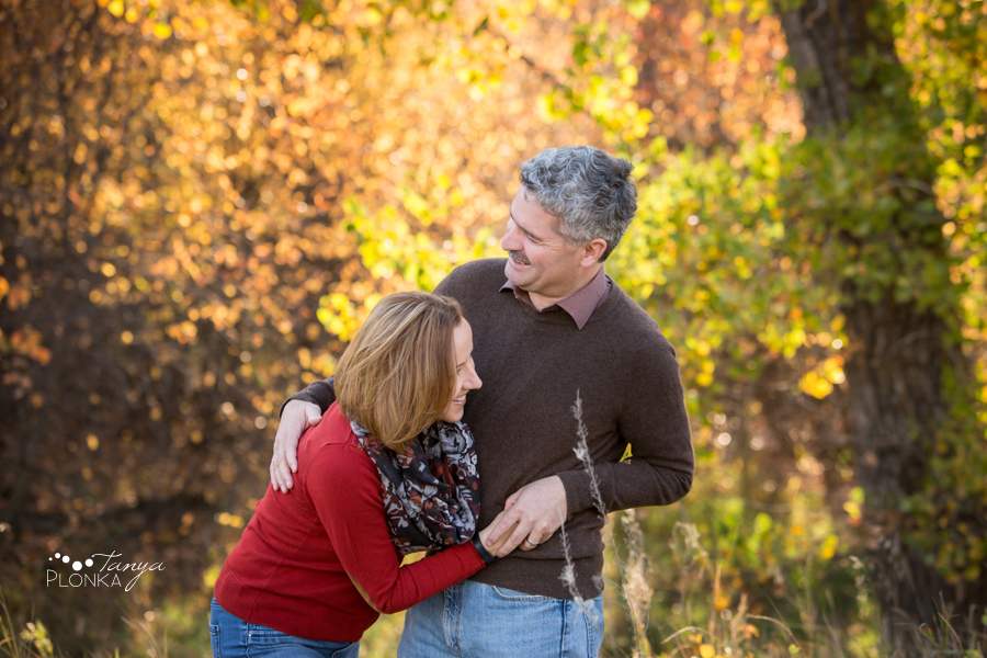 Lethbridge River Bottom fall anniversary portrait session